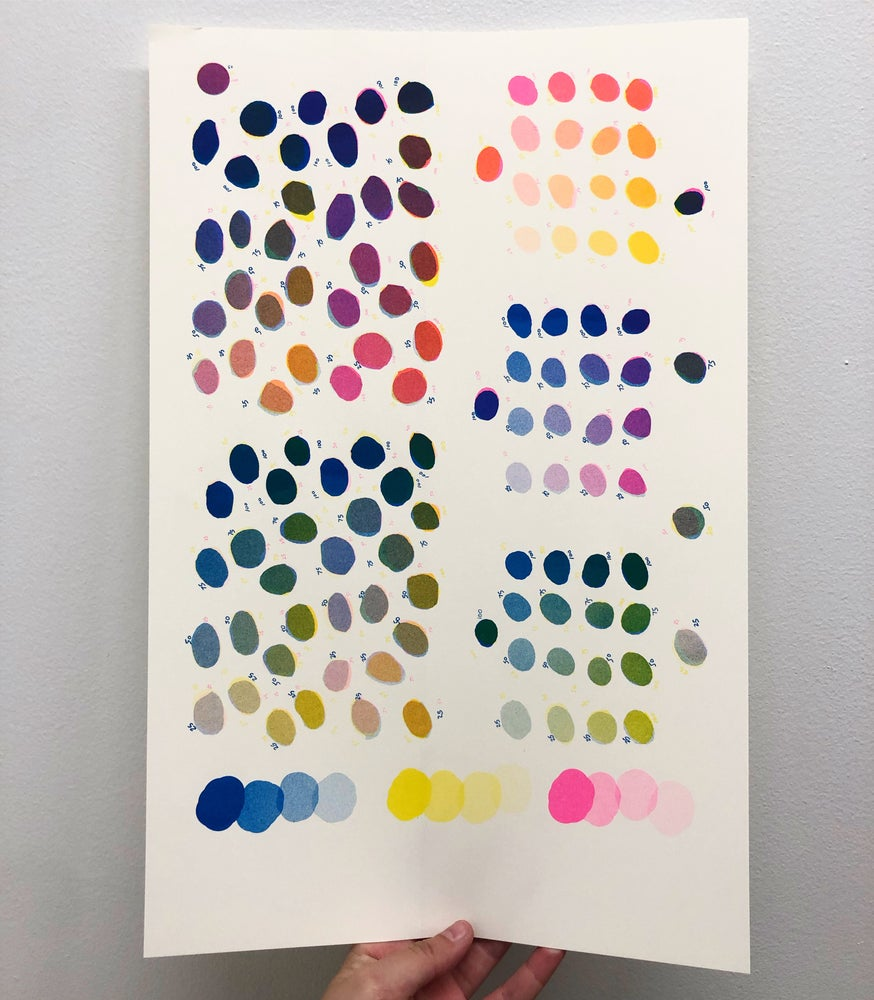 Image of Large 11x17 Poster 3 Color Riso Chart