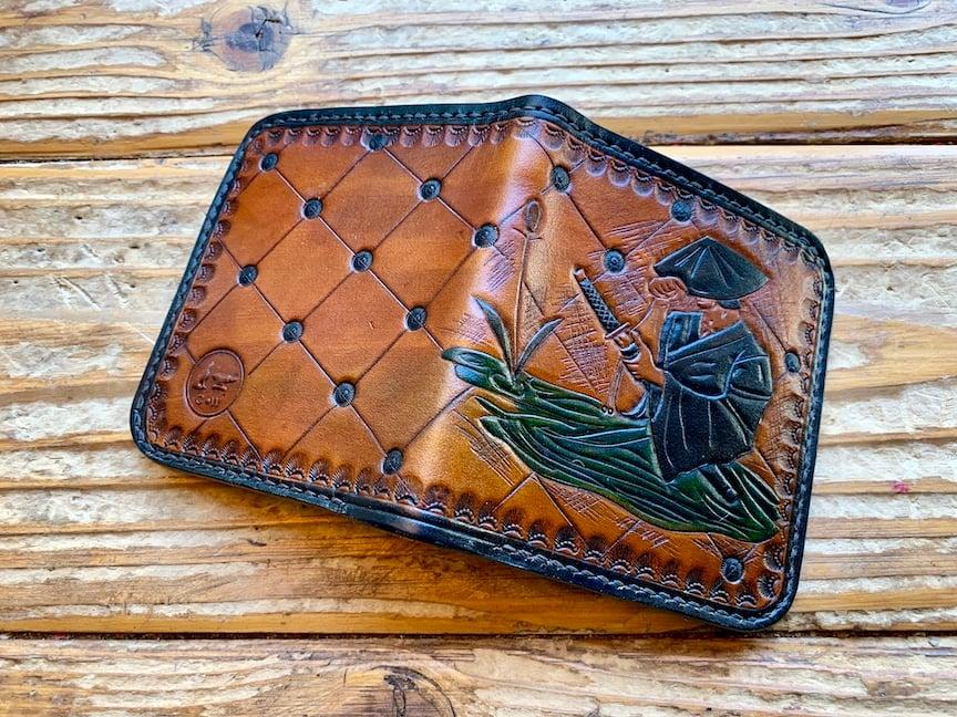 """Image of """"Nobunaga"""" Custom Samurai Bi-Fold Wallet"""