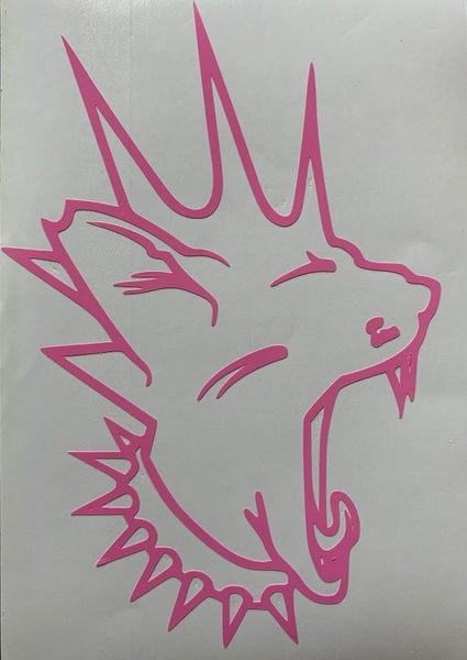 Image of Pink Perry Feral Custom Cut Vinyl Sticker