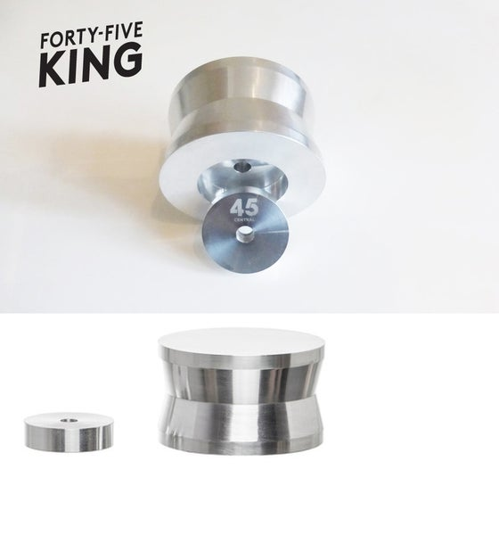 "Image of 45 KING > PRO 45rpm Slot In Vinyl Record Adapter + 7"" 12"" LP Stabiliser Weight"
