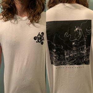 """Image of White """"Fathoms"""" T-Shirt (front/back print)"""