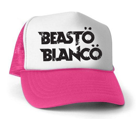 "Image of OFFICIAL - BEASTO BLANCO - PINK ""TRUCKER HAT"""
