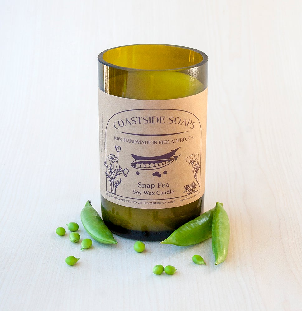 Image of ReCycled Glass - Snap Pea Soy Wax Candle