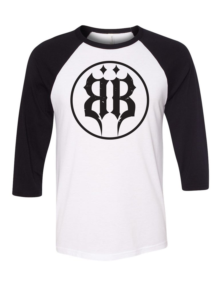 "Image of OFFICIAL - BEASTO BLANCO - ""BB CIRCLE"" LOGO 3/4 SLEEVE SHIRT"