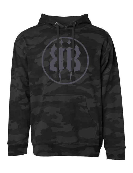 "Image of OFFICIAL - BEASTO BLANCO - ""BB LOGO / BLACK CAMO"" PULLOVER HOODIE"