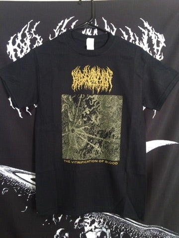 Image of Short Sleeve - 'The Vitrification of Blood' Gold Ink