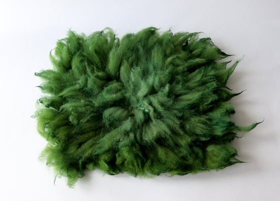 Image of Felt layering Piece, Green hand Felted Wool, Size B Green GAL