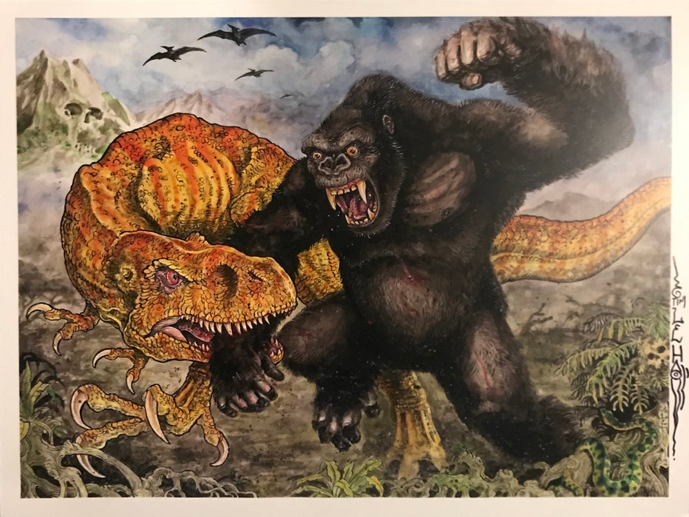 "Image of Tim Lehi ""Battle on Skull Island"" Signed Poster"