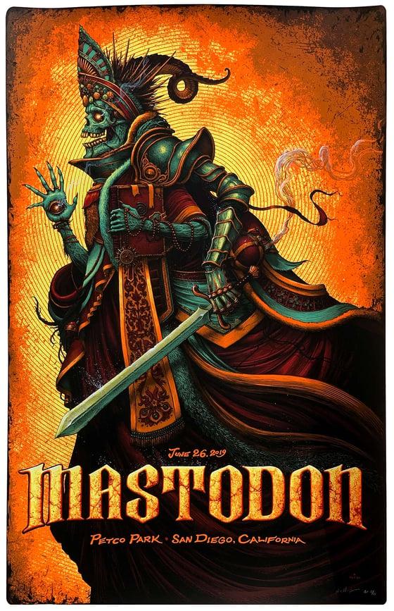 Image of Mastodon Hand Embellished posters