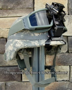 Image of  U.S. Army KEVLAR COMBAT HELMET SIZE LARGE ACH Upgrade parts. NVG mount.