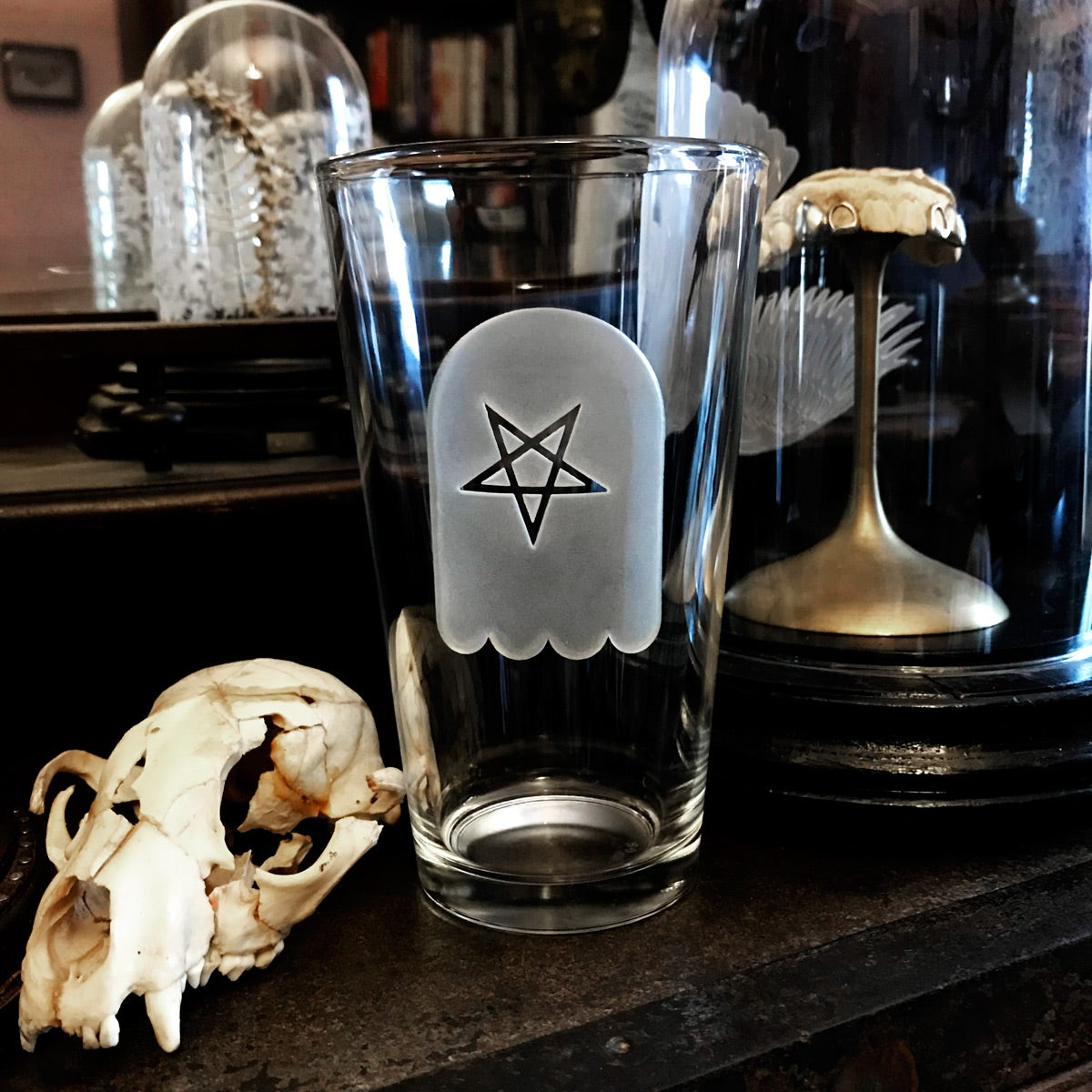 Image of Pentacle Ghost Pint Glass