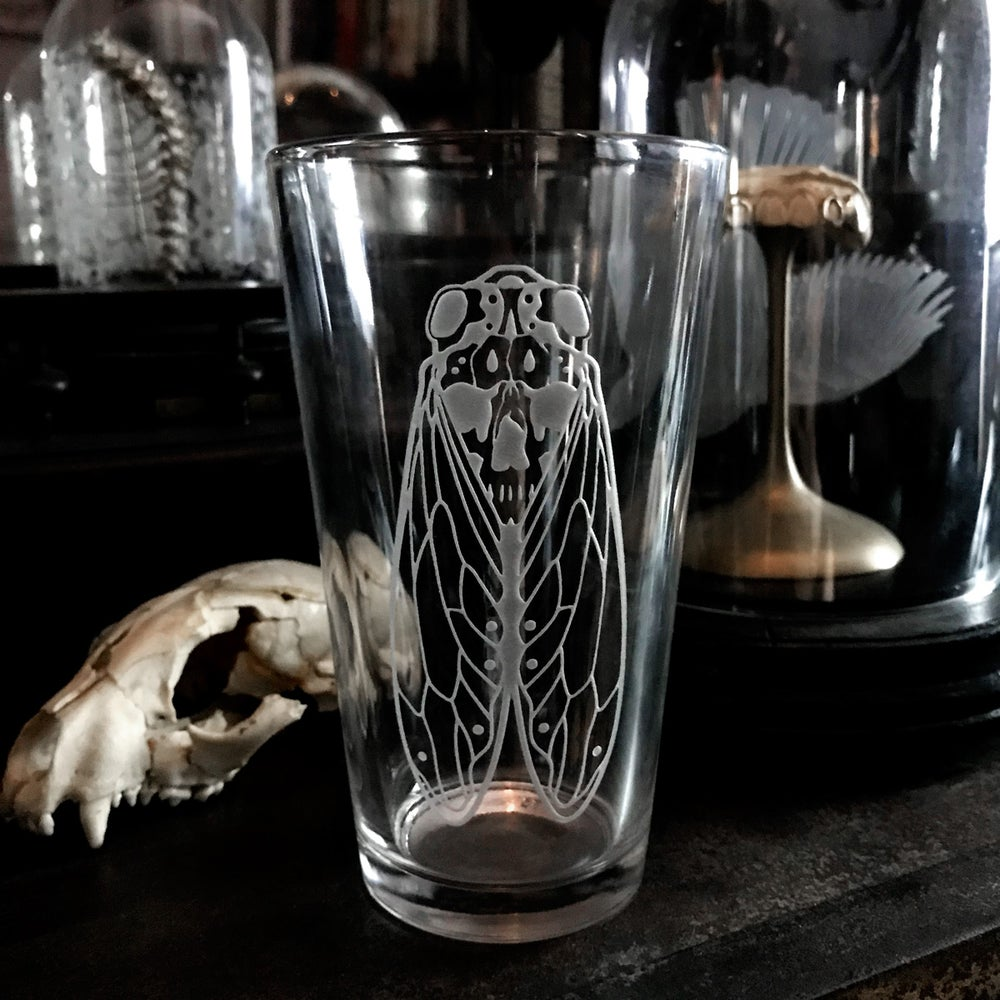 Image of Death's Head Cicada Pint Glass