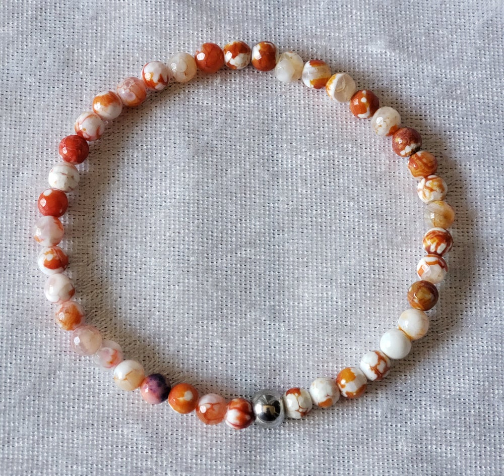 Red Agate Beaded Anklet