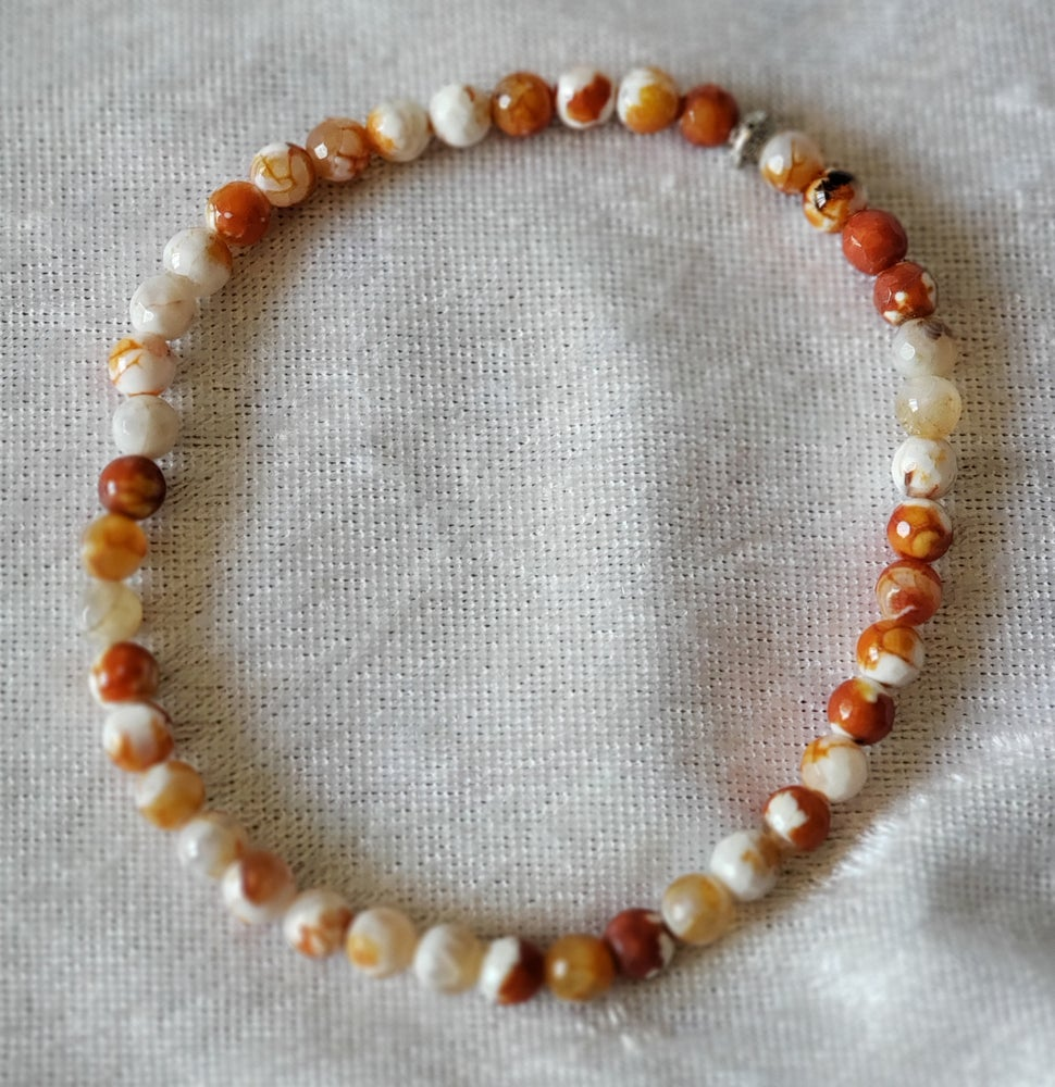 Image of Red Agate Beaded Anklet