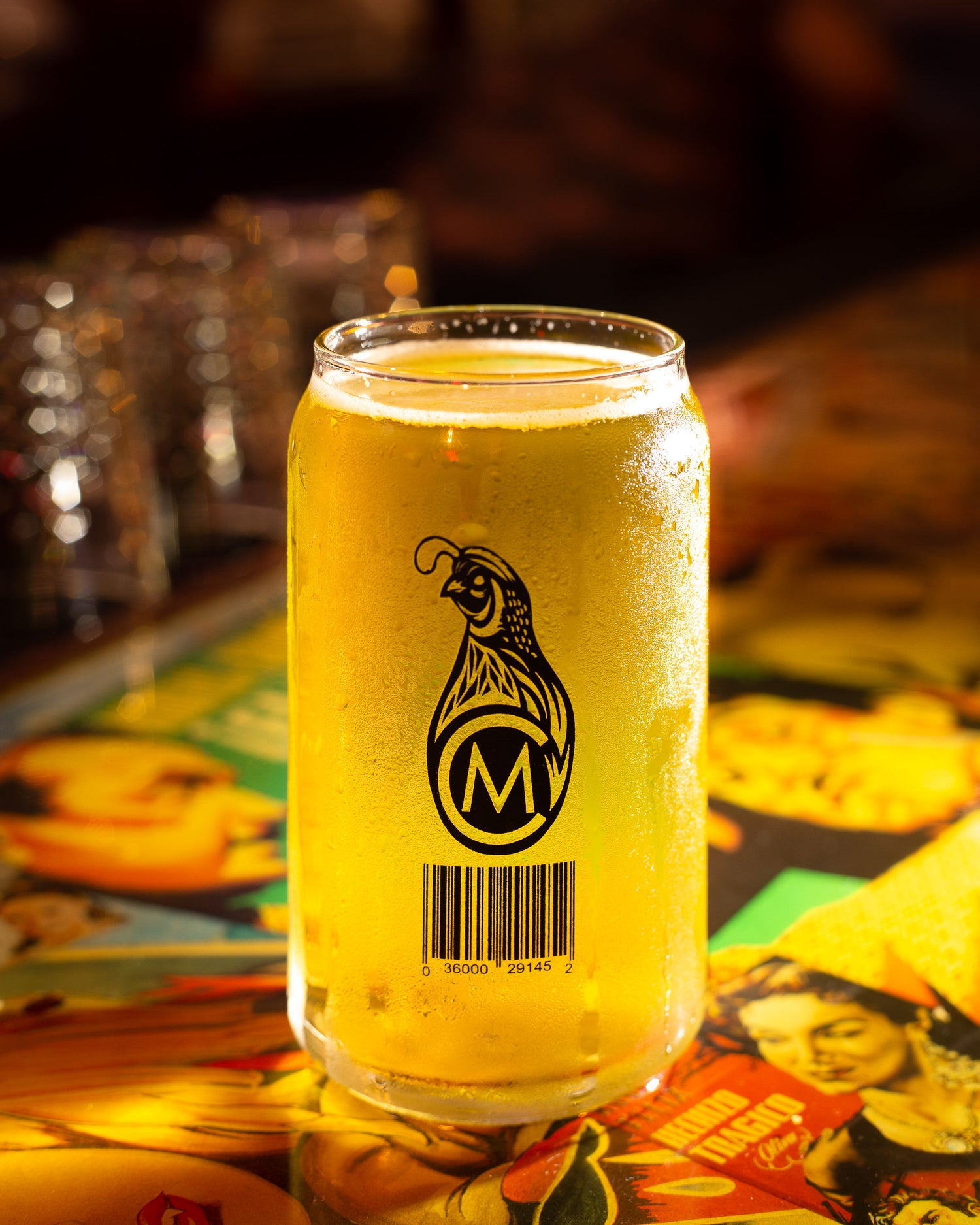 """Image of Quail Pale Ale """"Barcode"""" Glass"""