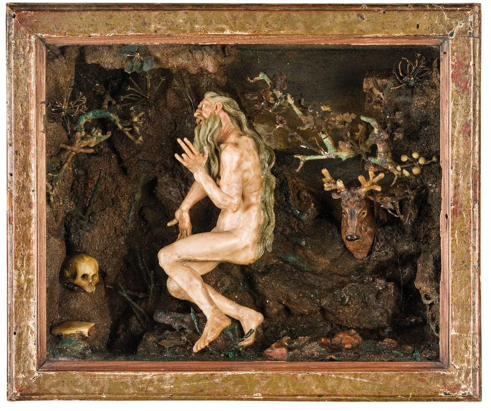 Image of A rare Neapolitan, 18th century Wax Diorama (Teatrini) attributed to Caterina de Julianis
