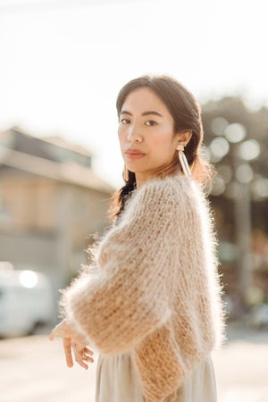 Image of Kinikin Mohair Cardigan - Limited ( in colour Milk Tea)