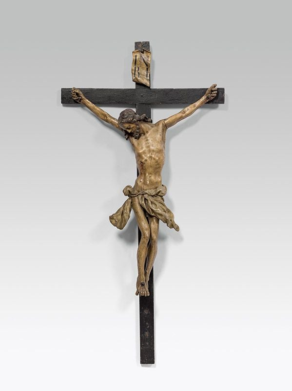 Image of An impressive mid-18th century Crucifix by Johann Joseph Christian