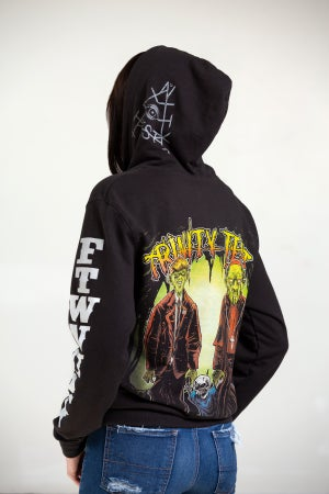 Image of TRINITY TEST FULL COLOR, ZIP UP, HOODIES - ALMOST SOLD OUT!!!