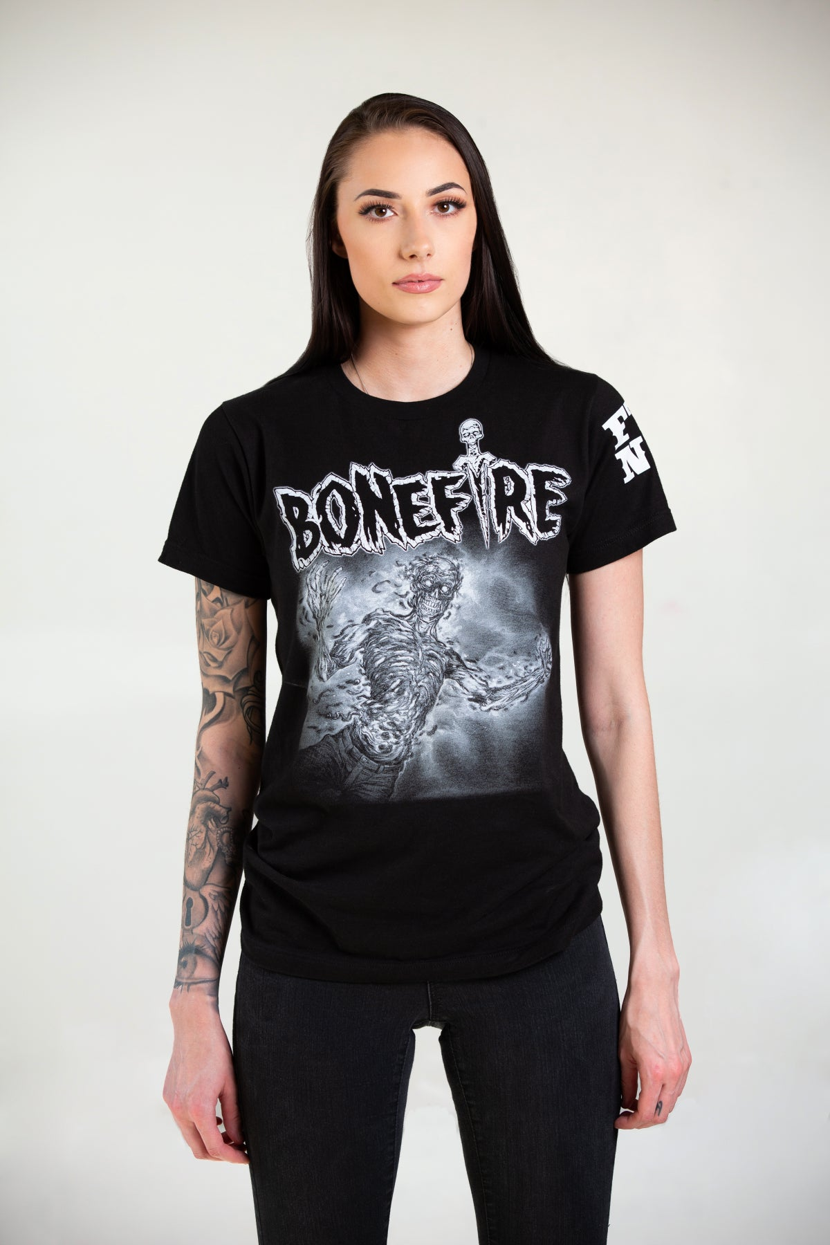 "Image of BONEFIRE ""FADE"" SHIRT - GLOWS IN THE DARK!"