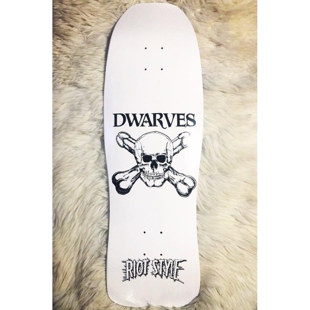 Image of The Dwarves - Skull & Cross Boners Logo Pool Deck Skateboard (Limited Edition)