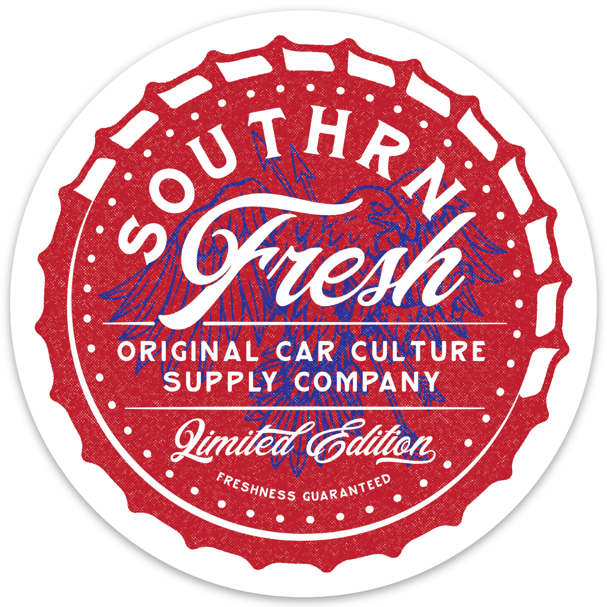 Image of Southrnfresh USA Bottlecap Decal