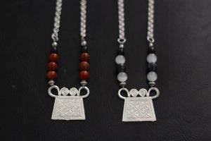 "Image of ""Tribal Royalty"" Necklace Collection (Sand Dust & Grey Scale) - VII DOSE X KuvLi"