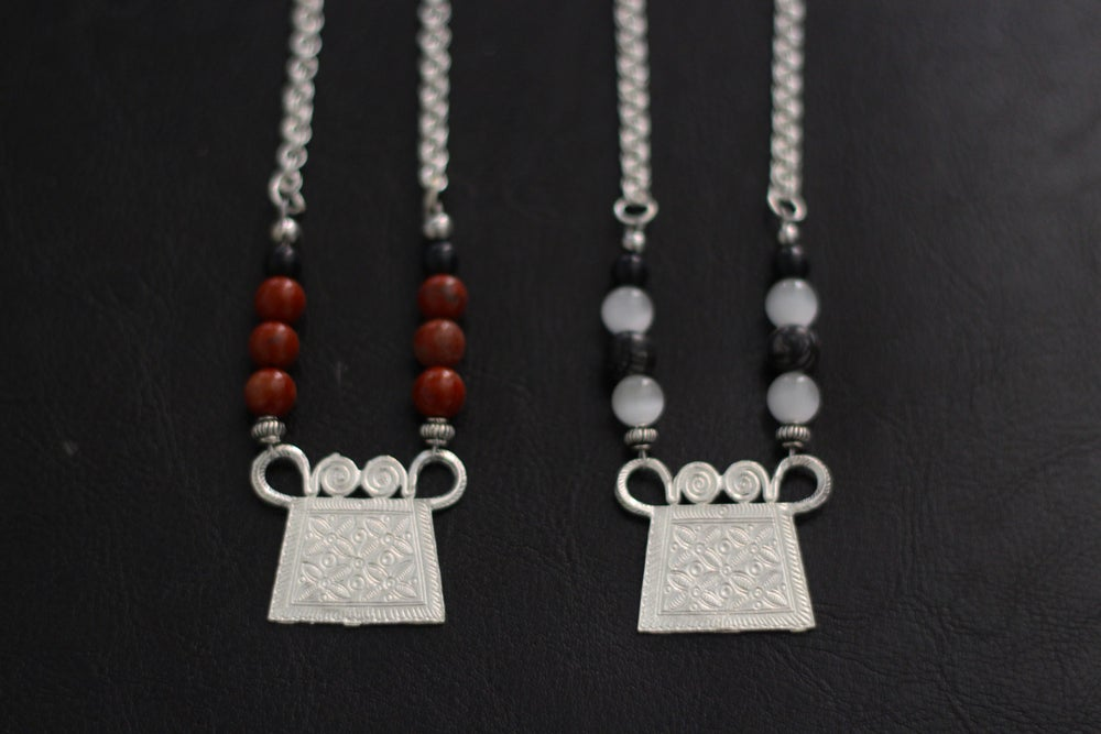 """Image of """"Tribal Royalty"""" Necklace Collection (Sand Dust & Grey Scale) - VII DOSE X KuvLi"""