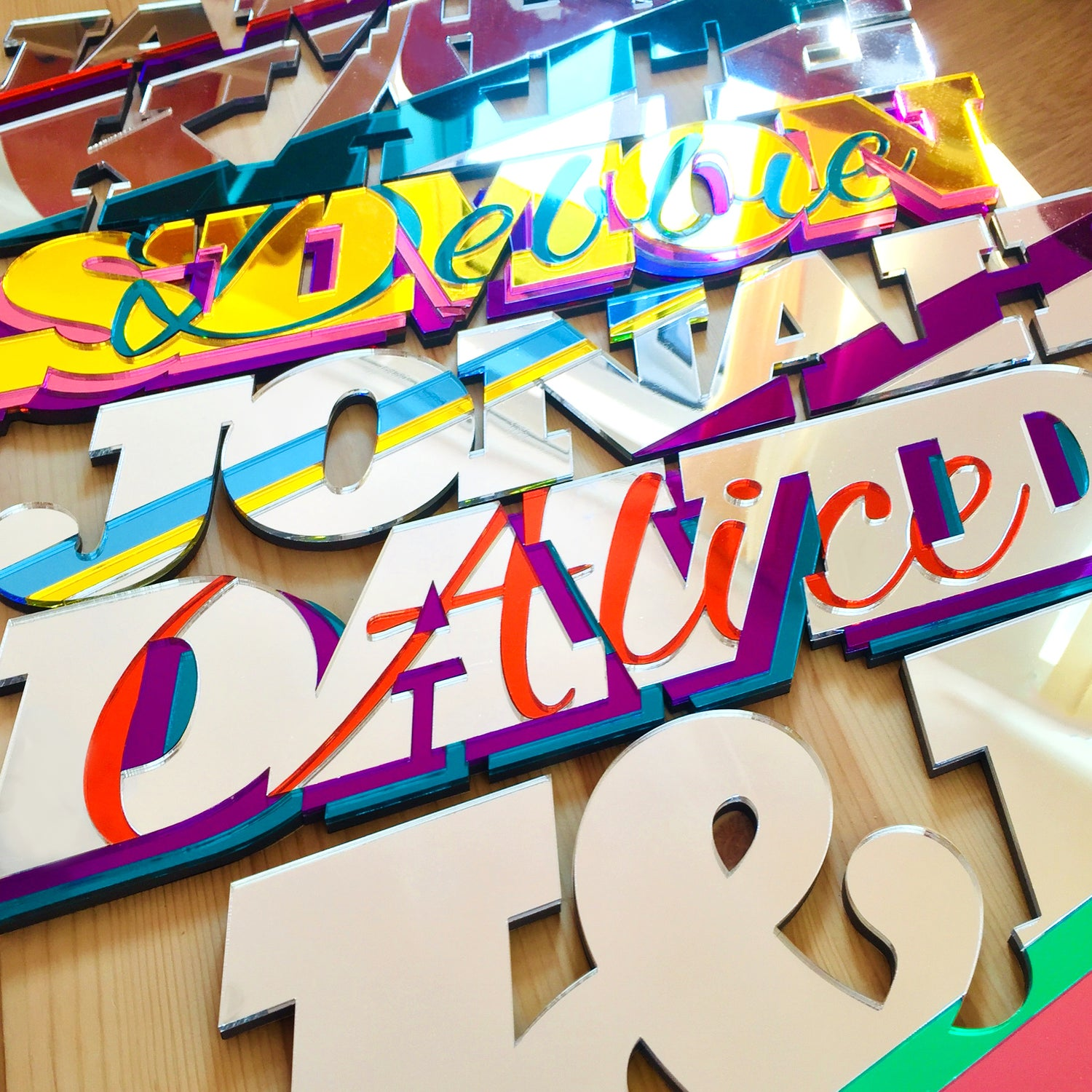 Image of Snazzy personalised names mirrors