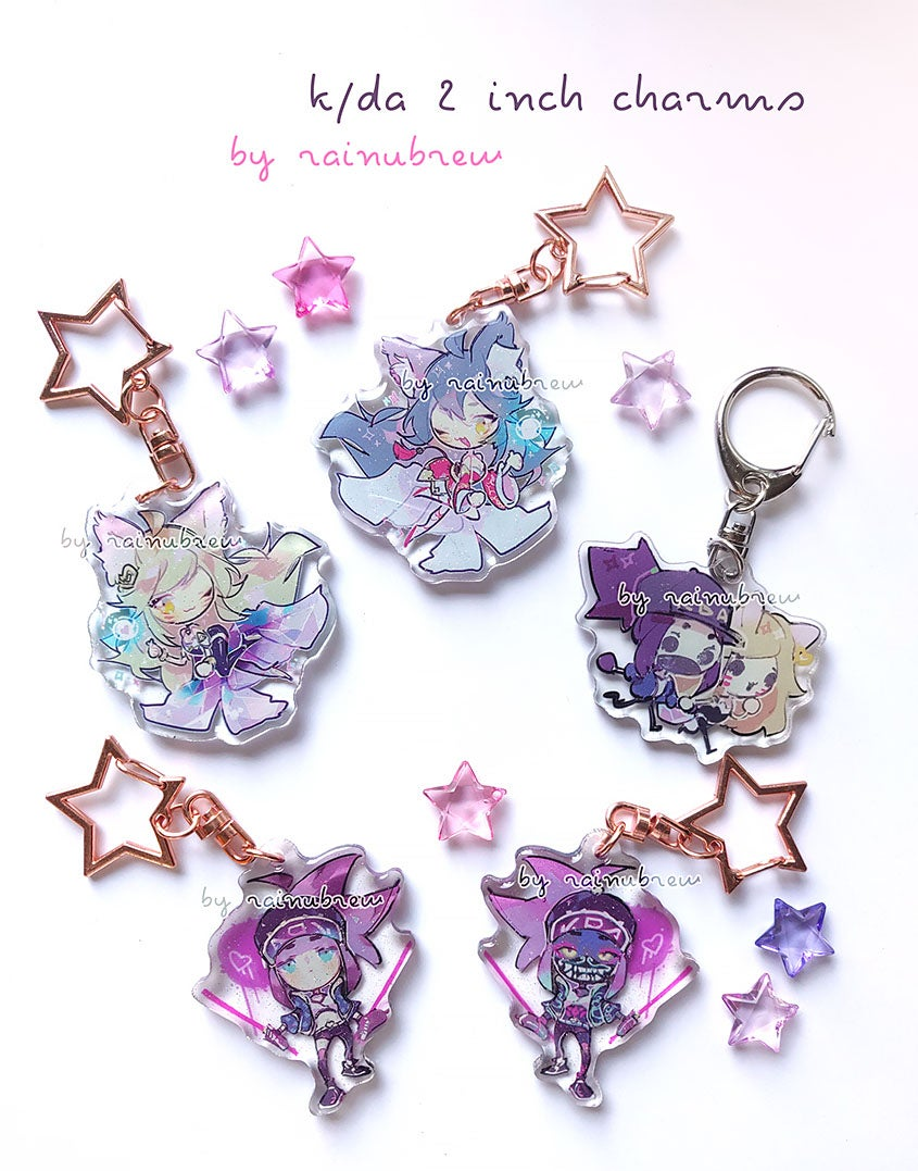 Image of K/DA | 2 inch charms