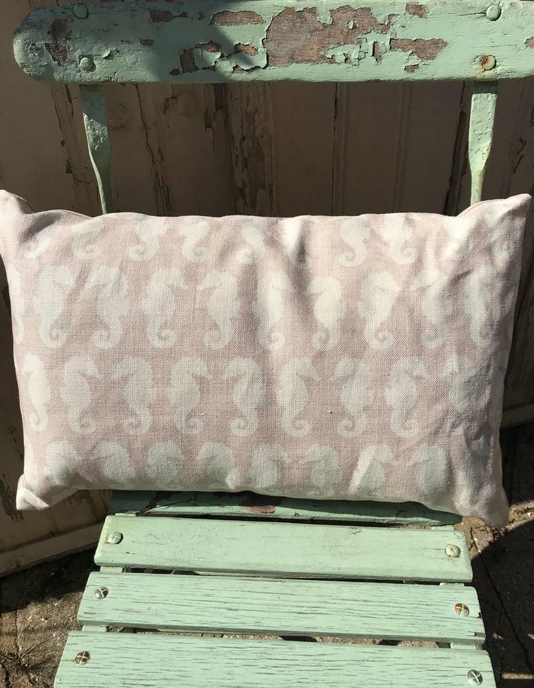 Image of Pink Seahorse Cushion