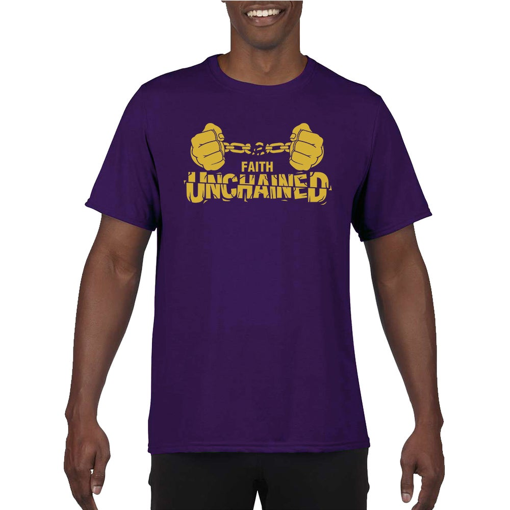 Image of Faith Unchained Purple and Gold