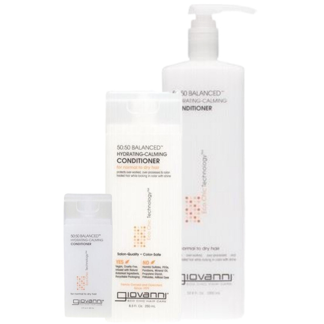 Image of Giovanni 50:50 Balanced™ Hydrating-Calming Conditioner | 60ml/250ml/1L