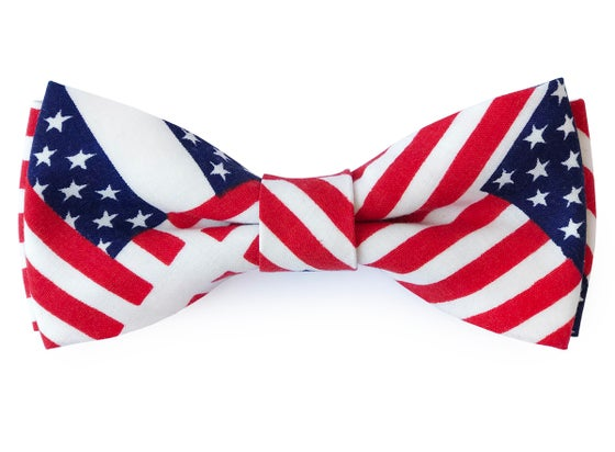 Image of American Flag pre-tied bow tie