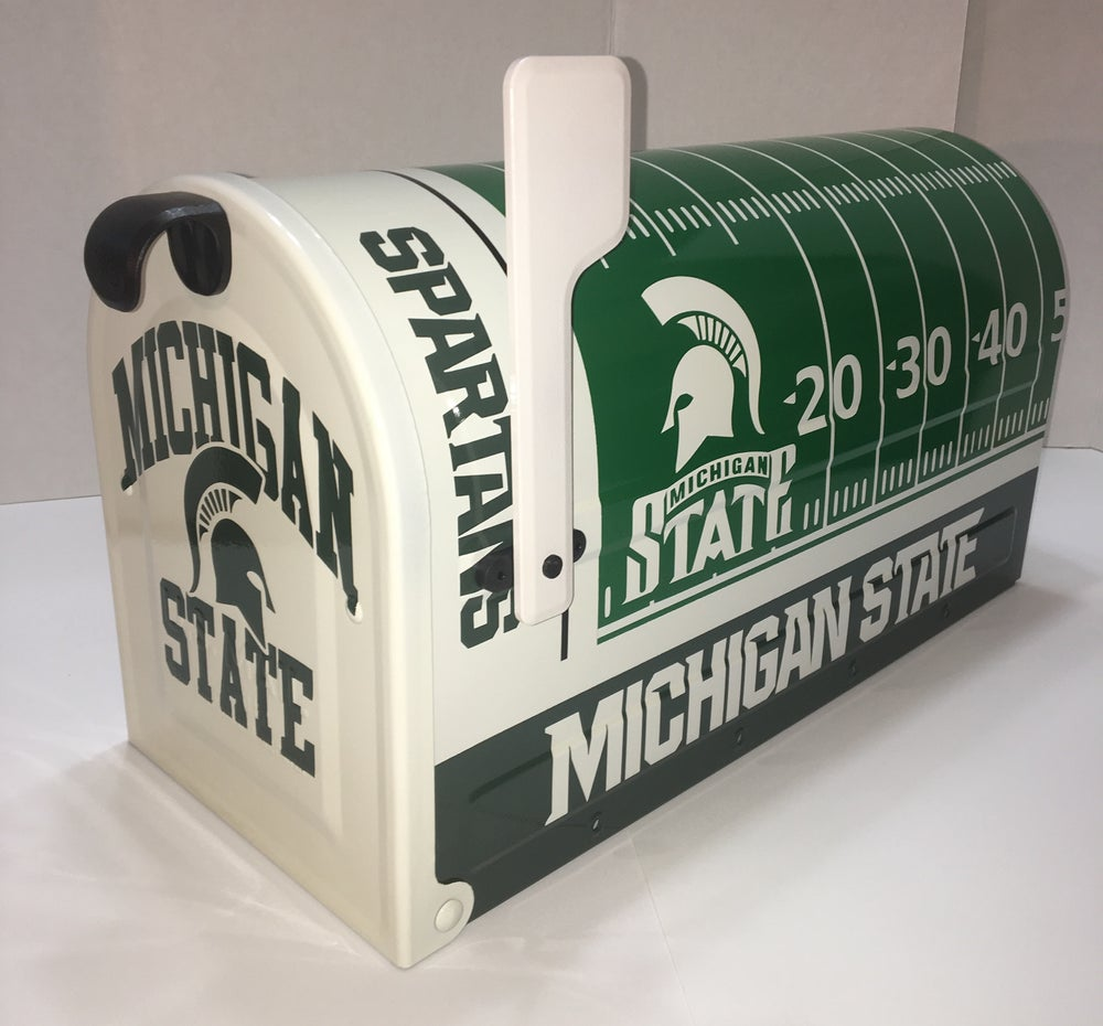 Image of Michigan State Team Themed Large Capacity Mailbox by TheBusBox Football, NFL, College, Baseball