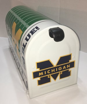 Image of Michigan Wolverines Large Capacity Mailbox by TheBusBox - Football Sports Mail Box NFL, NBA, College