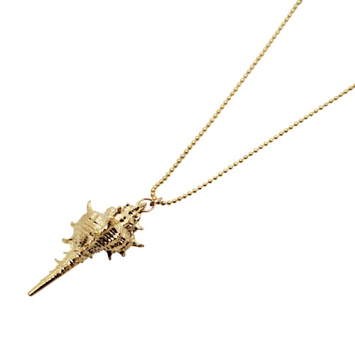 Image of Gold Conch Shell Necklace
