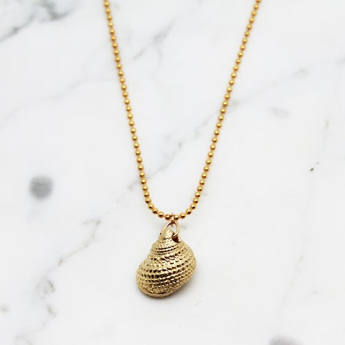 Image of Gold Snail Shell Necklace