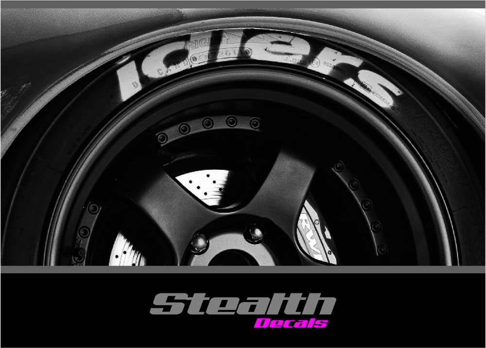 Image of 4x IDLERS Tyre stencil stickers