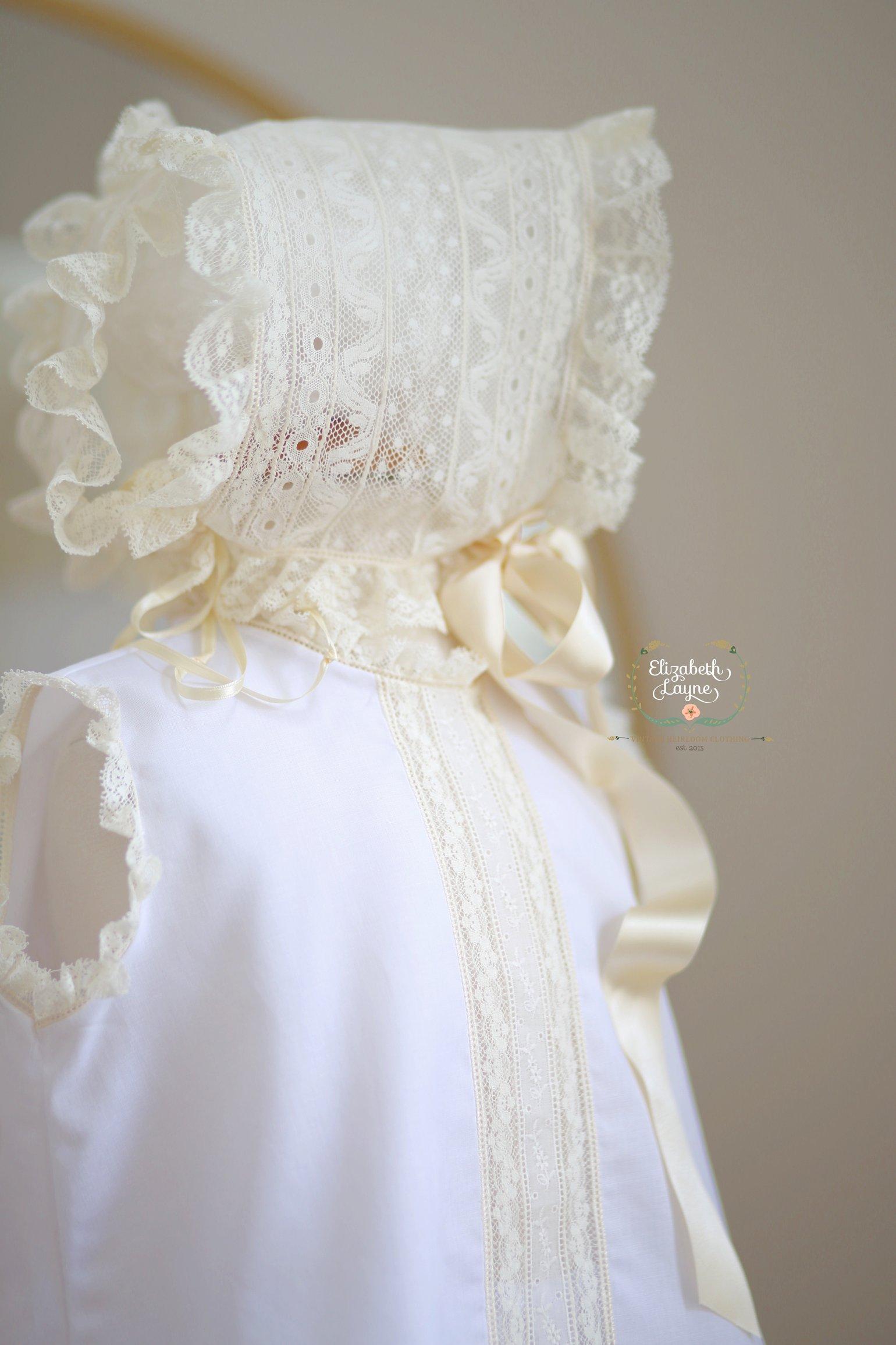Image of New Lyla Heirloom Dress & Bonnet Set