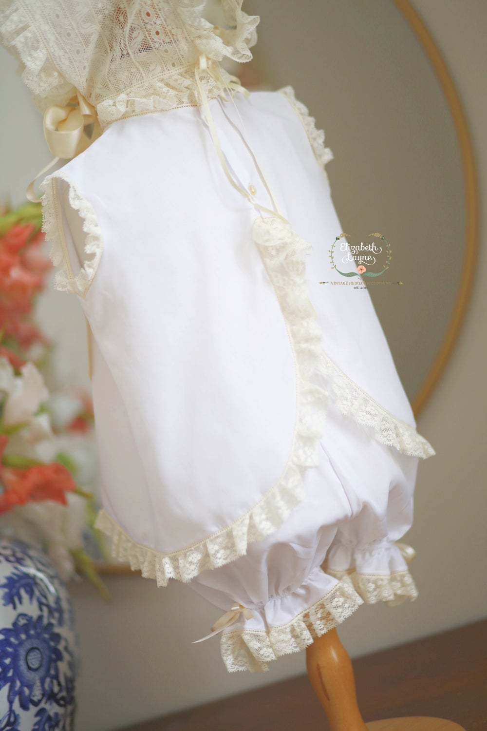 Image of New Lyla Heirloom Dress & Bonnet Set
