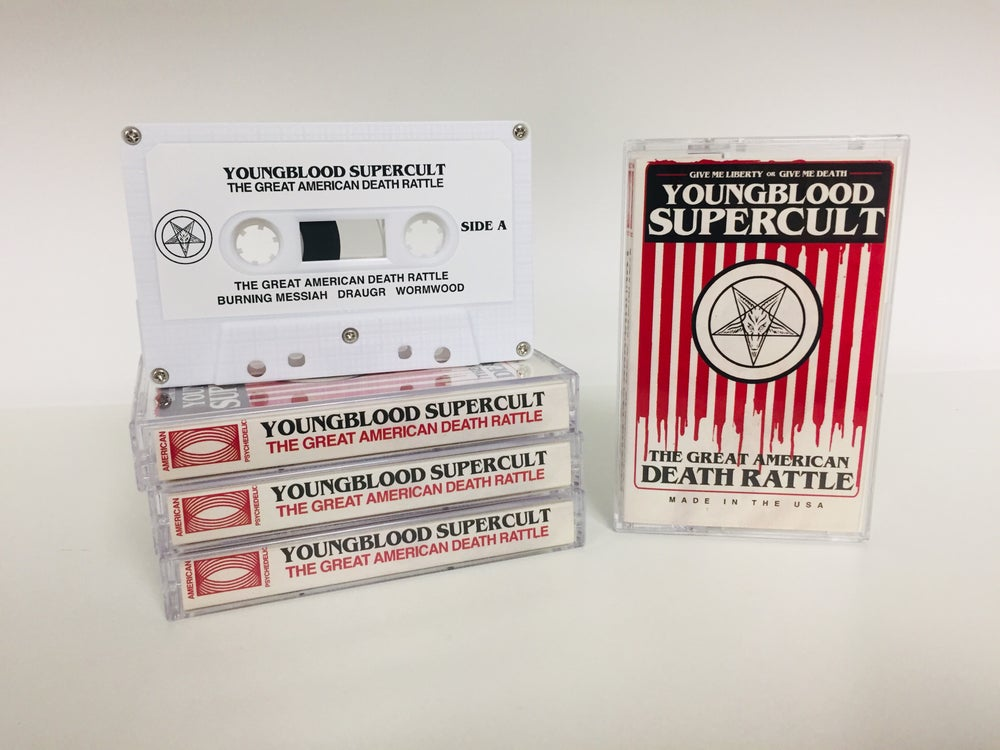 Image of Youngblood Supercult - The Great American Deathrattle Cassette