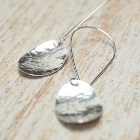 Image of Oval drop earrings