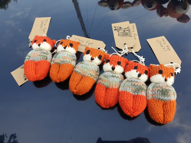 Image of Knitted Fox Keyrings