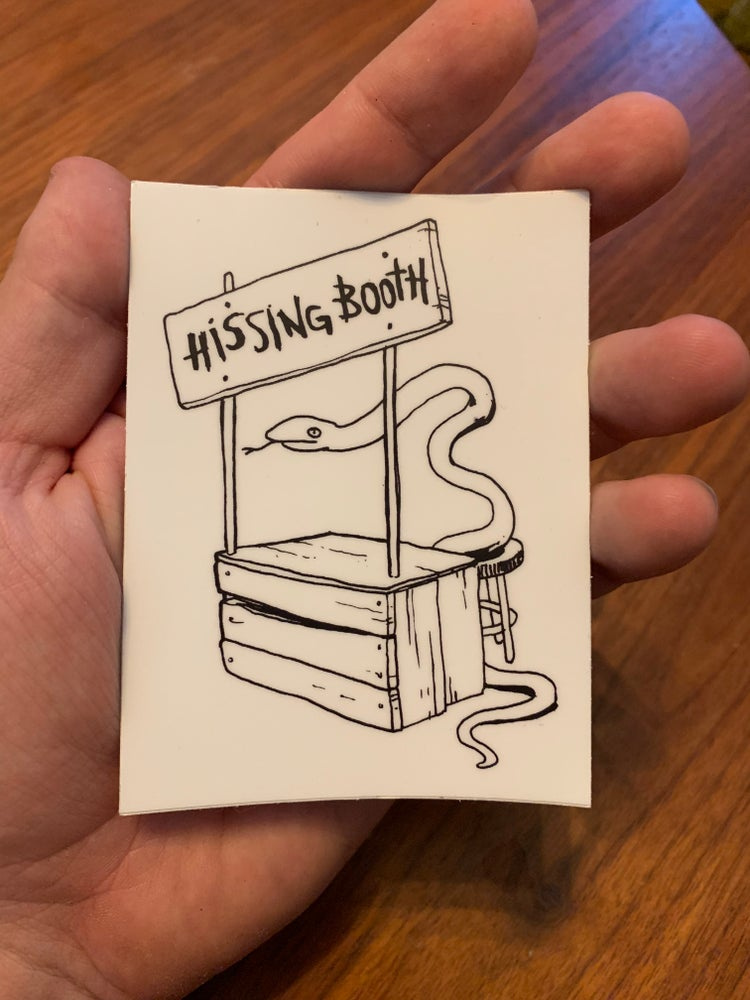 Image of Hissing Booth - Sticker (x2)