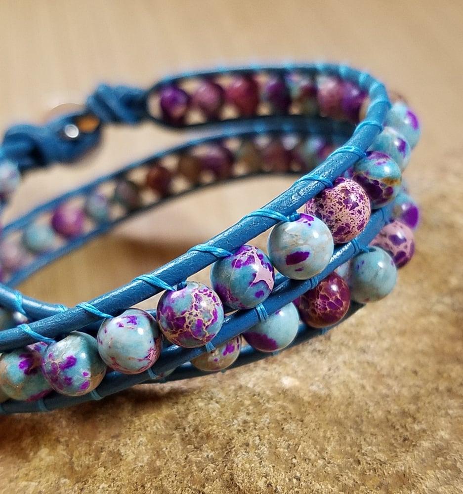 Image of Sea Sediment Jasper Wrap Bracelet