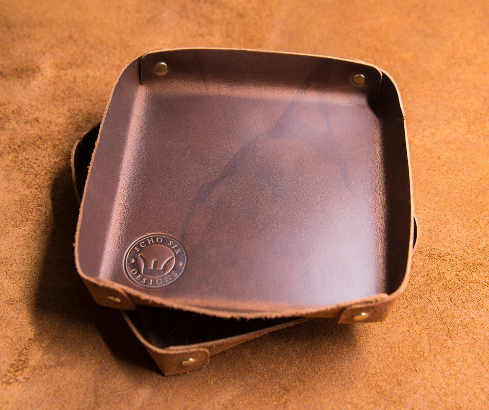 Image of Leather Valet Tray - Small
