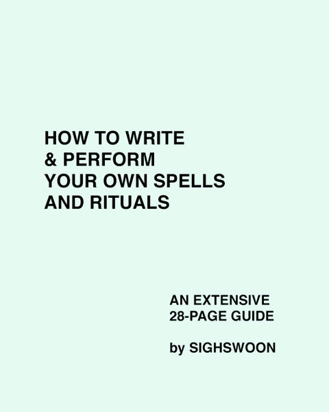 Image of PDF: HOW TO WRITE & PERFORM YOUR OWN SPELLS & RITUALS