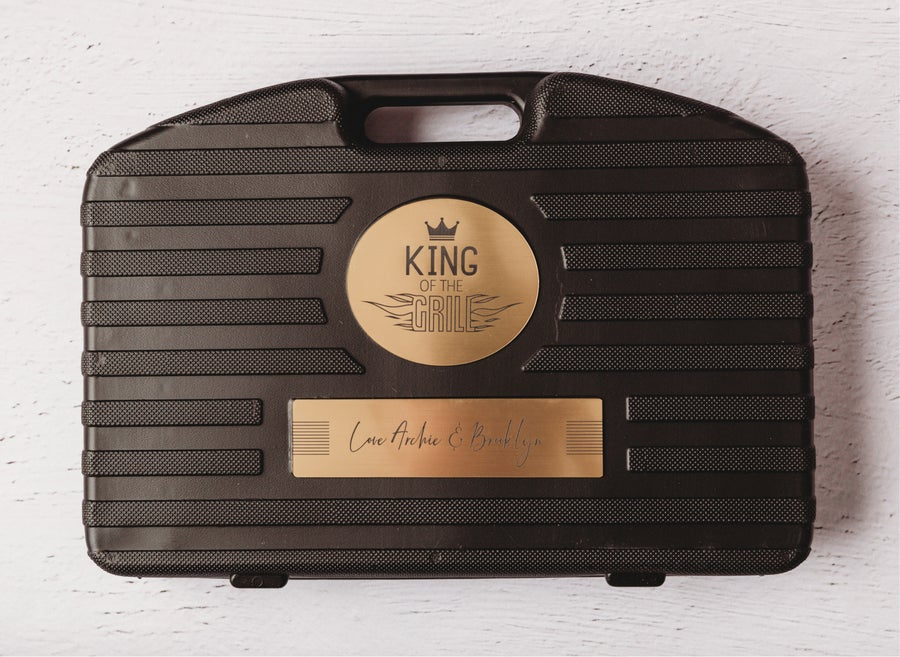 Image of 18pce BBQ Tool Set - King Of The Grill