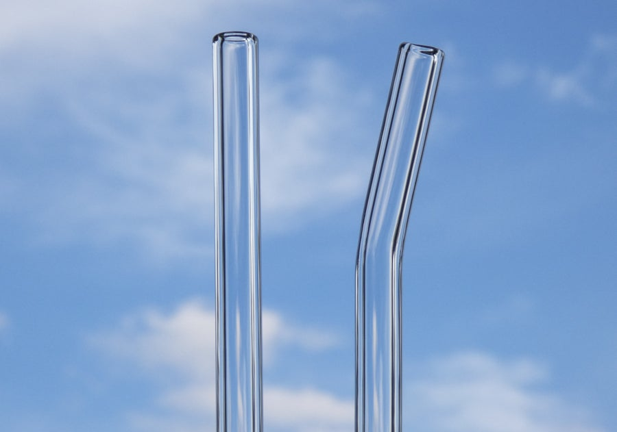 Image of Clear Glass Drinking Straws